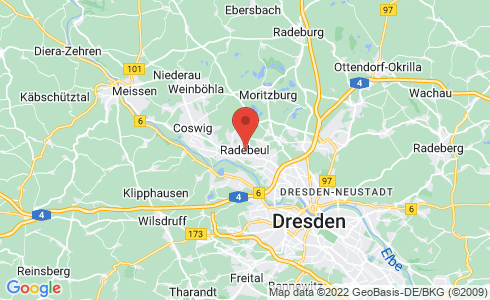 Google Karte - Radebeul