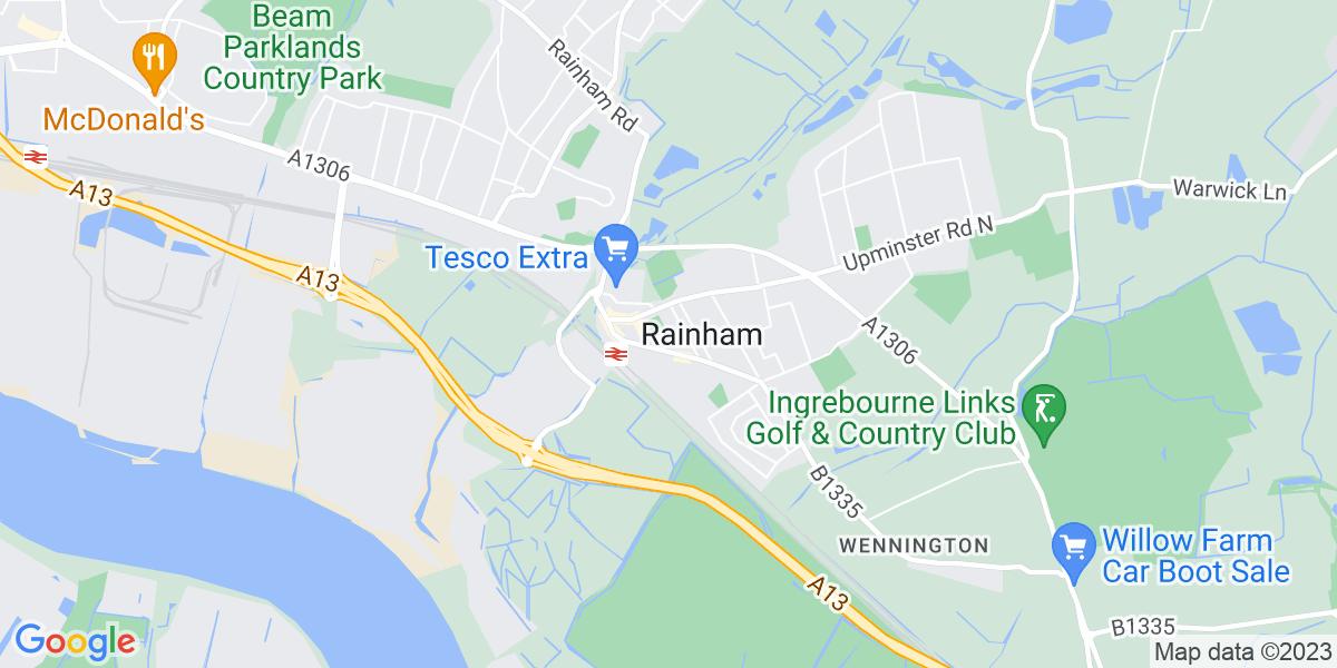 Map: Marketing Executive job role in Rainham
