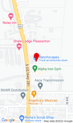 Google Map of Ranchscapes Trailer Sales 1800 West Oak Lawn, Pleasanton, TX, 78064
