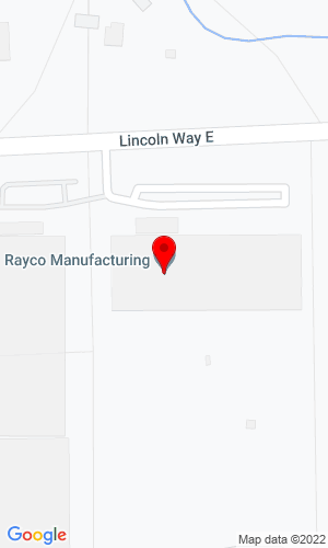 Google Map of Rayco Manufacturing 4255 E Lincoln Way , Wooster, OH, 44691