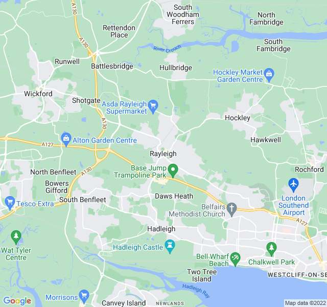 Website Designer Rayleigh Google map of location