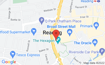 Map of Reading, UK