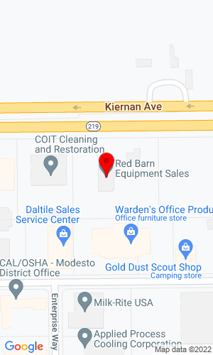 Google Map of Red Barn Equipment 4124 Kiernan Ave. , Modesto, CA, 95356
