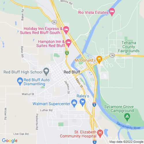 Map of Red Bluff, CA