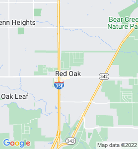 Red Oak TX Map