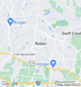 Redan GA Map