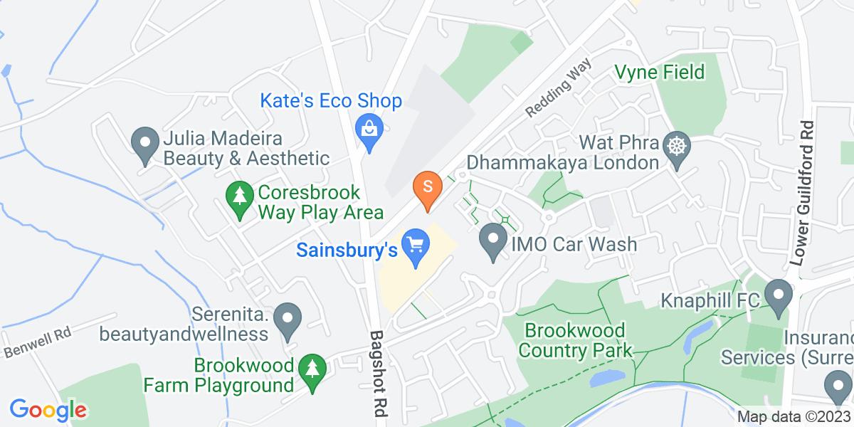 Google Map of Redding WayKnaphill Woking GU21 2QT