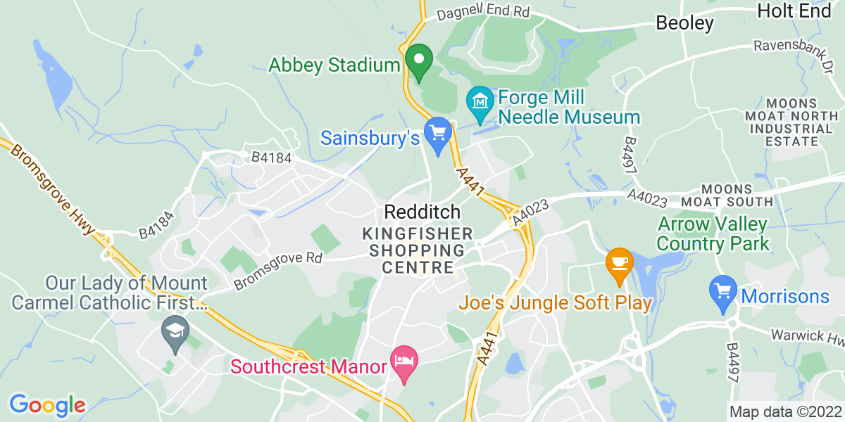 Map: Head Of Health, Safety & Quality job role in Redditch