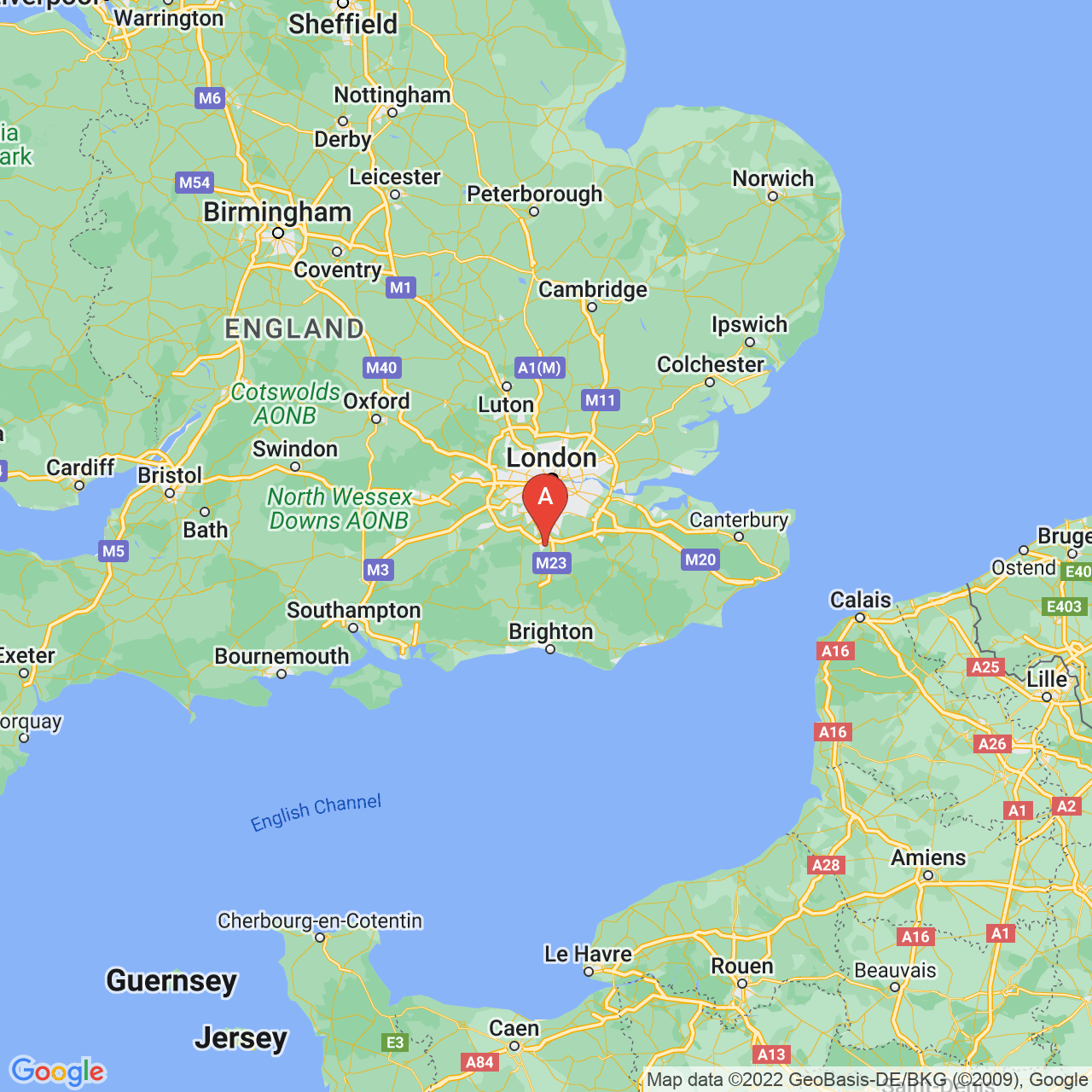 Redhill, England Map