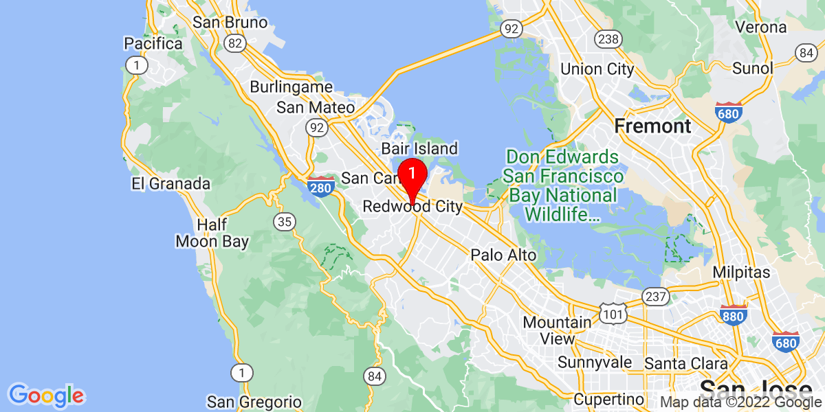 Google Map of Redwood city, CA
