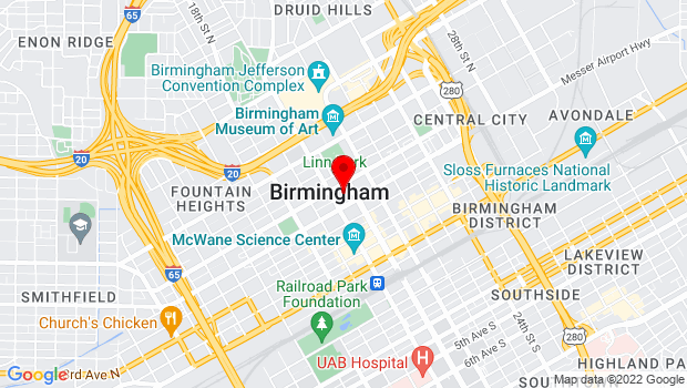 Google Map of Regions-Harbert Plaza – Suite 3100, 1901 6th Avenue North, Birmingham, AL 35203