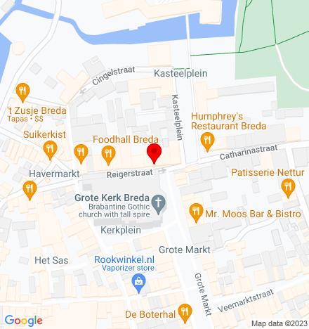 Google Map of Reigerstraat 10 4811 XB Breda