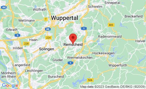Google Karte - Remscheid