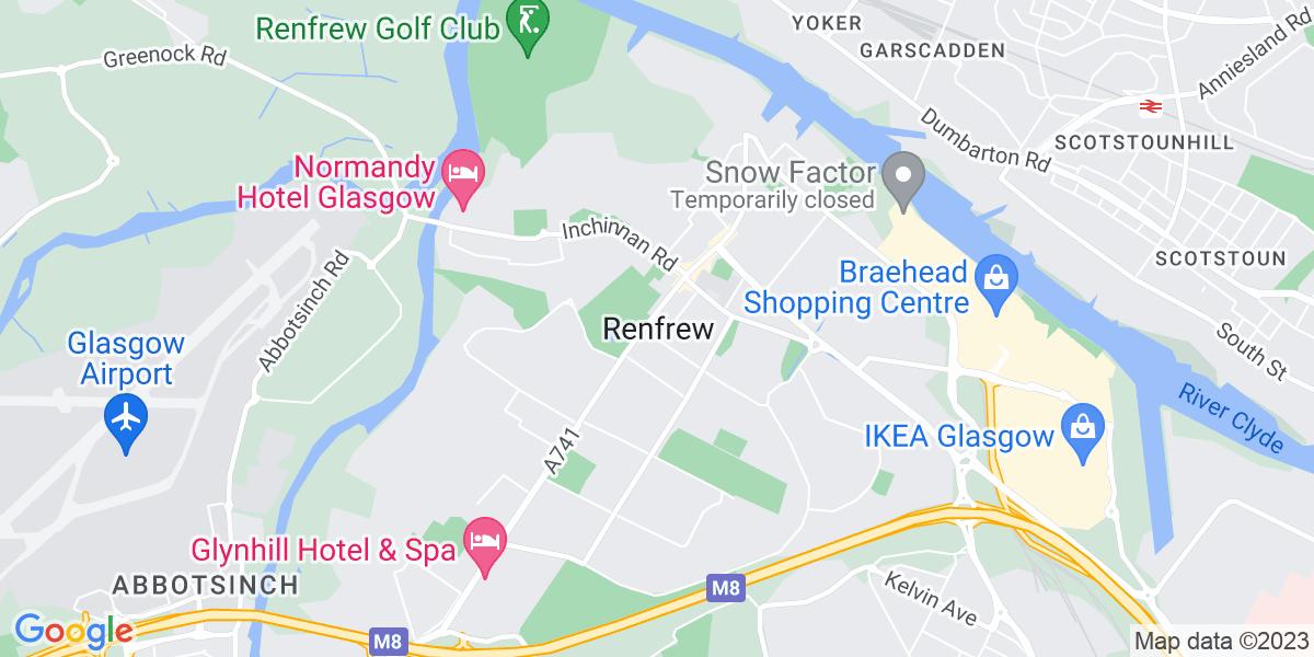 Map: Shift Manager Glasgow position in Renfrew