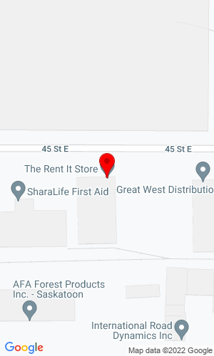 Google Map of Rent It Store, The 633 45th Street East , Saskatoon, SK, S7K 0W4