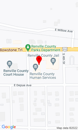 Google Map of Renville County Hwy Dept 410 East Depue, Olivia, MN, 56277