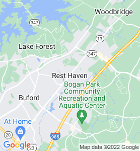 Rest Haven GA Map