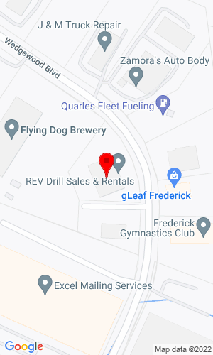 Google Map of Rev Drill 4605 Wedgewood Blvd, Frederick, MD, 21703