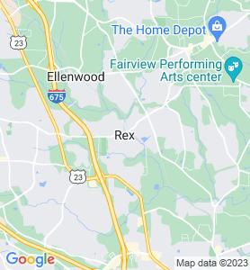 Rex GA Map
