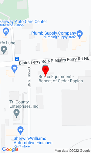 Google Map of Rexco Bobcat 1925 Blairs Ferry Road NE, Cedar Rapids, IA, 52402