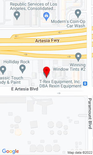 Google Map of Rexin Equipment 2641 E Artesia Blvd, Long Beach, CA, 90805