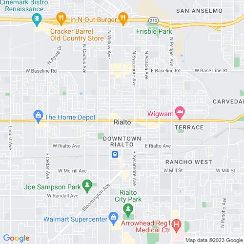 Map of Rialto, CA