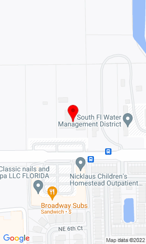 Google Map of Richards Tractor and Implements, Inc. 1995 NE 8th Street, Homestead, FL, 33033