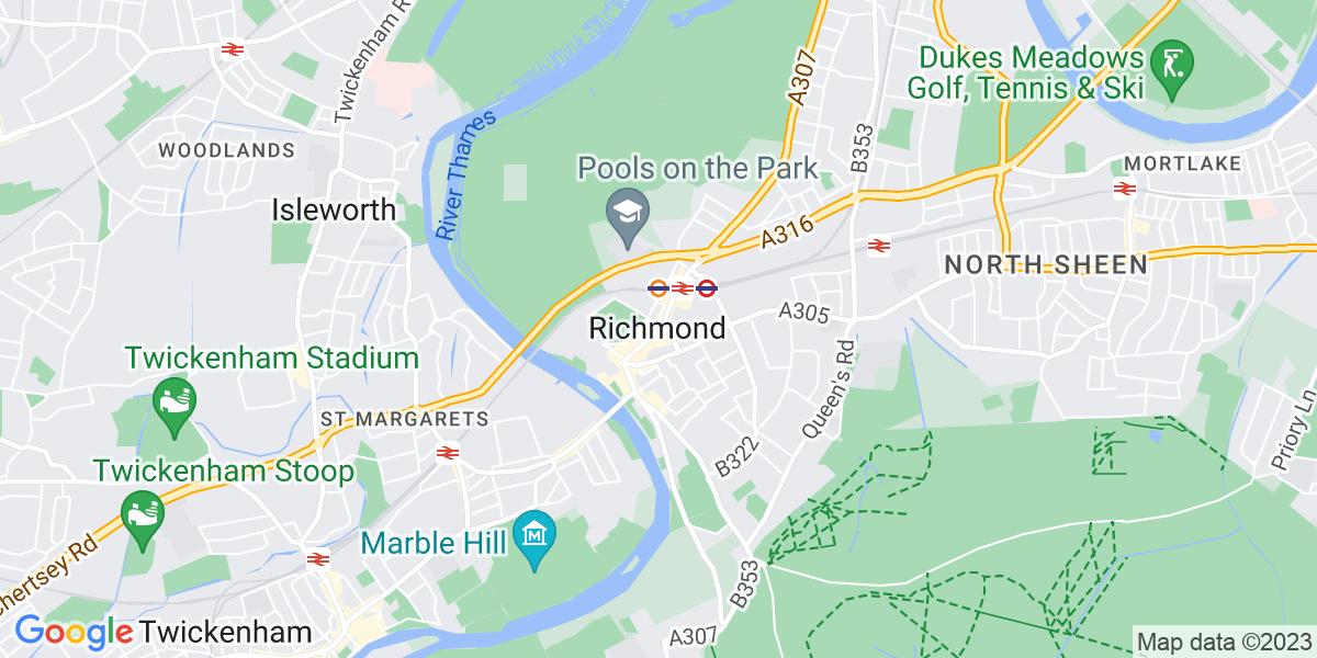 Map: Business Development Representative job role in Richmond
