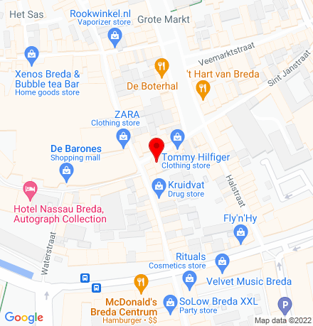 Google Map of Ridderstraat 25 4811 JB Breda