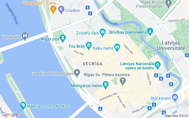 Show map of Riga