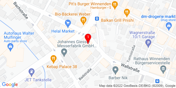 Google Map of Ringstr. 56 71364 Winnenden