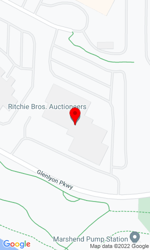 Google Map of Ritchie Bros. Auctioneers 9500 Glenlyon Pkwy, Burnaby, BC, V5J 0C6