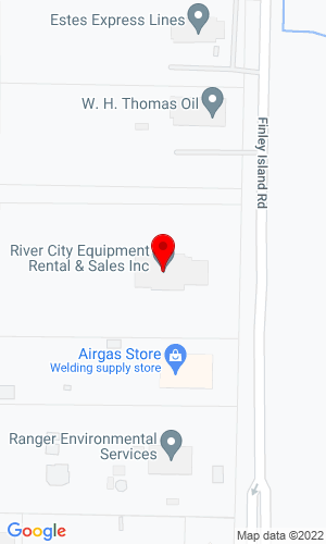 Google Map of River City Equipment Rental 649 Finley Island Road, Decatur, AL, 35601