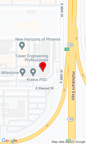 Google Map of Road Machinery LLC 4710 E Elwood, Suite 6, Phoenix, AZ, 85040