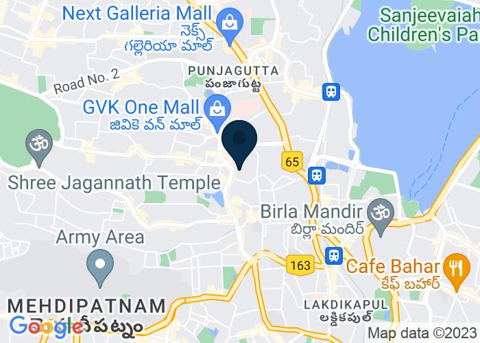 Map of Road No: 1, Banjara Hills, Hyderabad, India