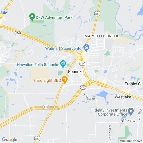 Map of Roanoke, TX