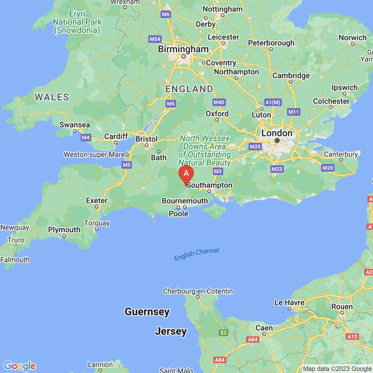 Rockbourne, England Map