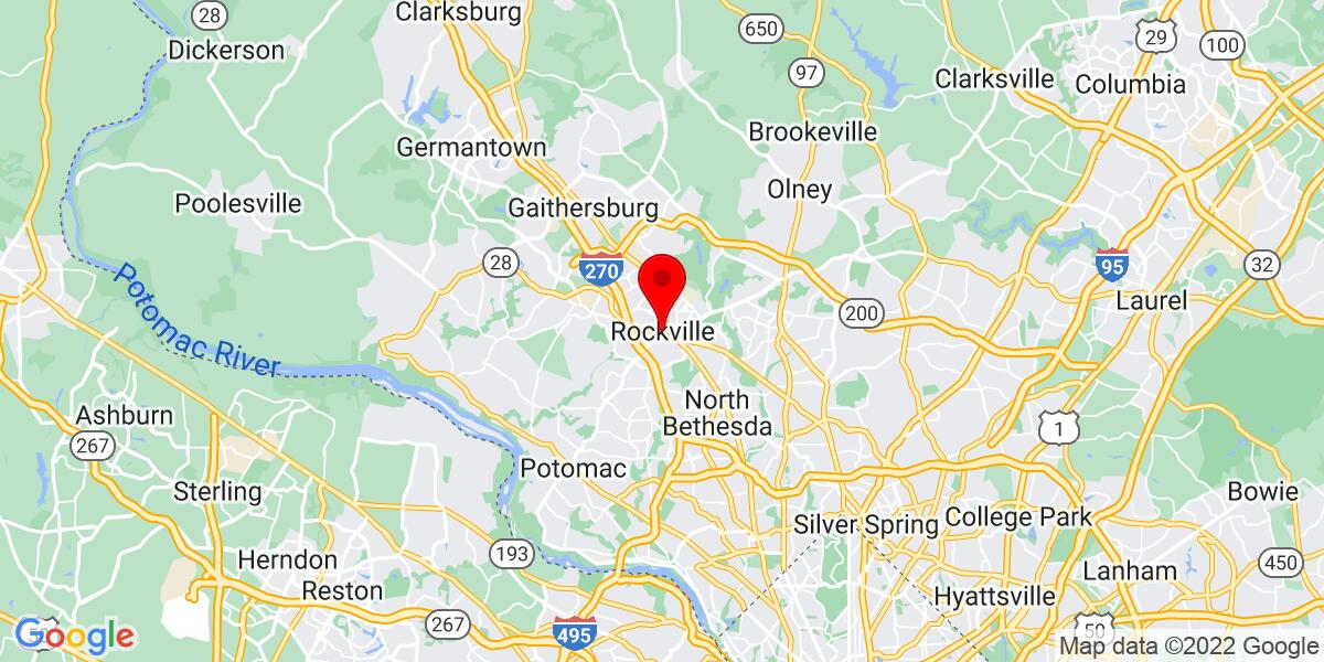 Google Map of Rockville, MD