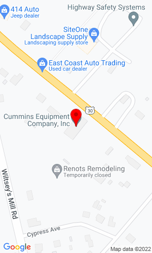 Google Map of Rodio Tractor Sales Inc 717 White Horse Pike, Hammonton, NJ, 8037,