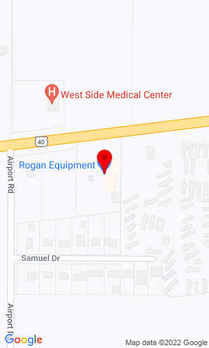 Google Map of Rogan Equipment, Inc. 4737 National Road West, Richmond, IN, 47374