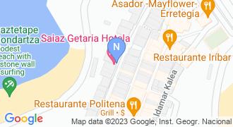 Saiaz getaria hotela mapa