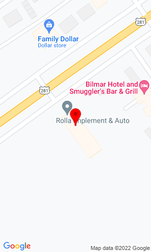 Google Map of Rolla Implement 1201 West Main Ave, Rolla, ND, 58367