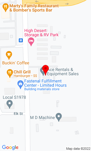 Google Map of Ron's Ace Rental & Equipment 1520 Elk Street, Rock Springs, WY, 82901