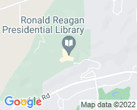 Map of the Ronald Reagan Presidential Library & Museum