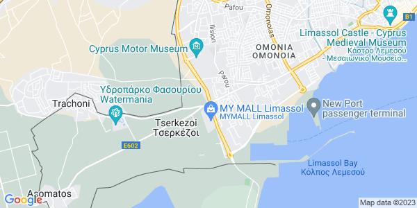 Google Map of Roosevelt+Avenue%2C+Limassol