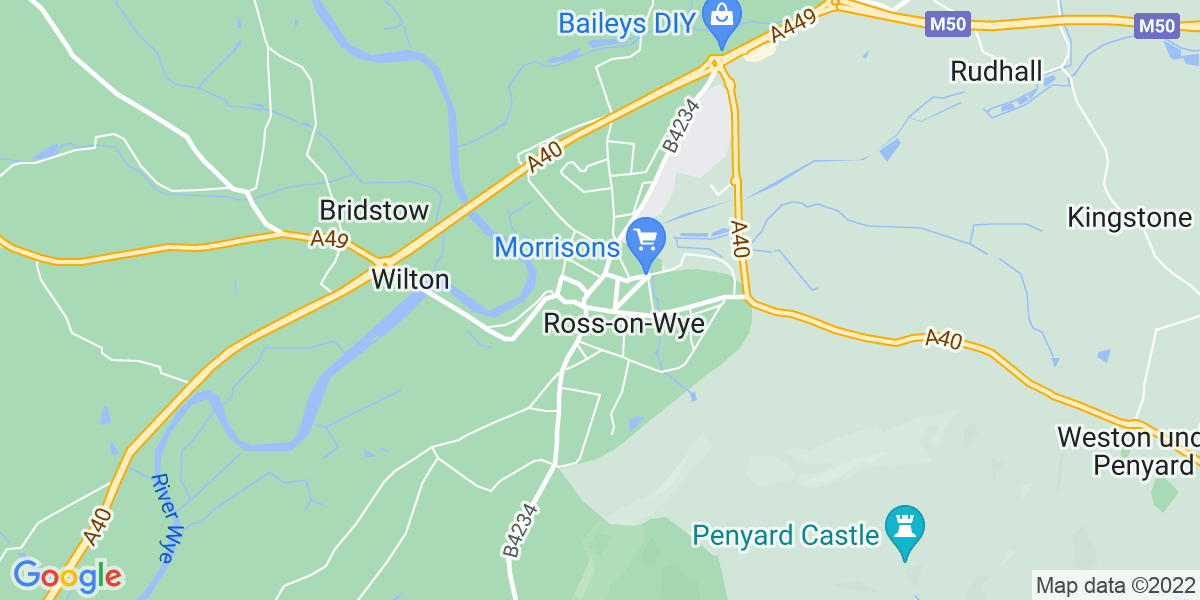 Map: Loader job role in Ross-on-Wye