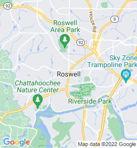 Roswell GA Map