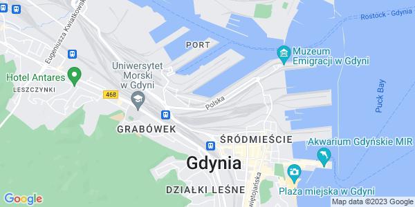 Google Map of Rotterdamska+3+str%2C+81+-+337%2C+Gydnia%2C+Poland