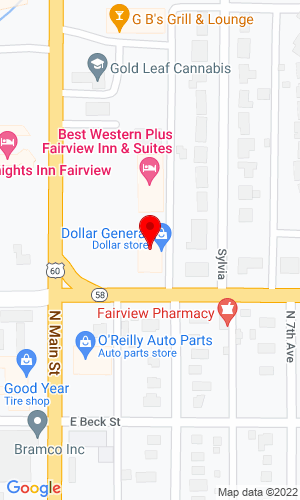 Google Map of Levings Trailer Sales Route 1 Box 145, Fairview, OK, 73737
