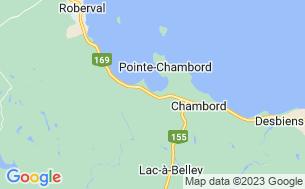 Map of Camping Chambord